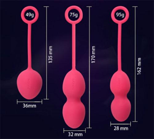 Kích thước của Sextoy se khít âm đạo Svakom Nova