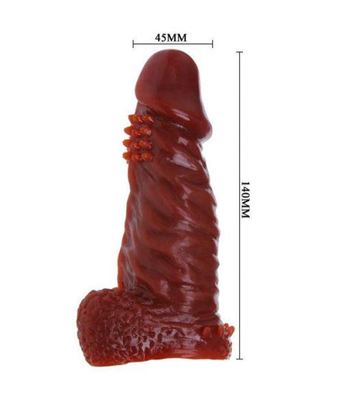 Kích thước Bao cao su silicon dùng nhiều lần màu nâu